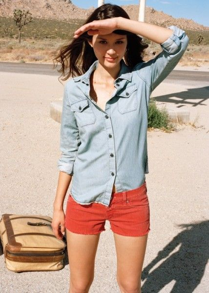 Denim shirts are finally back in fashion this Summer! 8e16cba6109ebd0f9263501c80336bb2