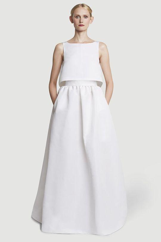 突破傳統!超摩登的簡約新娘禮服!