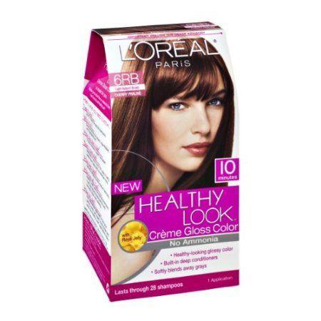 Astounding 3 Pk Loreal Paris Healthy Look Creme Gloss Light Auburn Brown Hairstyles For Women Draintrainus