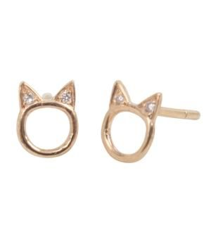 Sold as a single earring, this Choupette Earring in yellow gold would look purrrrrfect in my cartilage <3 $154
