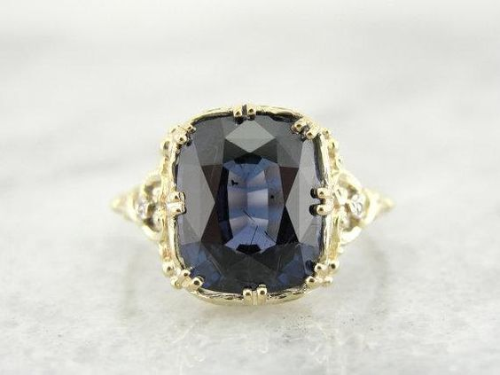 Rare Color Changing Blue Garnet In Filigree by MSJewelers on Etsy