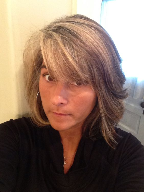 Highlights Blending With Gray Roots   hairstylegalleries.com