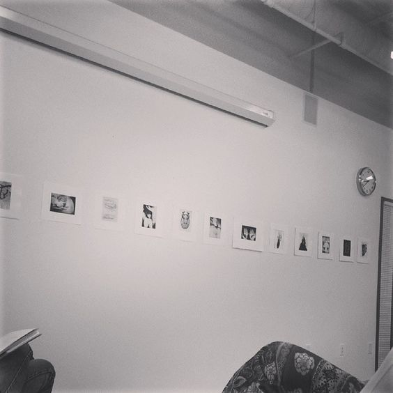 Printmaking critique // Photo by t0nightweride via Instagram