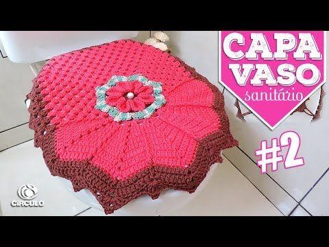 Capa Vaso Sanitario 2 Flor Neila 3d Soraia Bogossian Mundo De Soraia Youtube Cantinho Do Croche Jogos De Banheiro Croche Padroes De Croche Doily