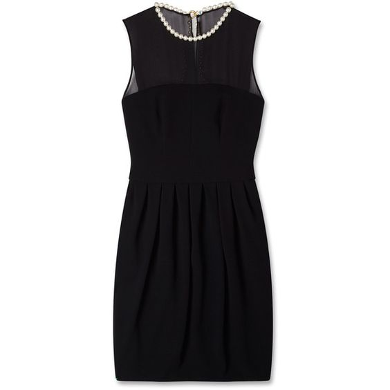 Moschino Cheap & Chic Pearl Neck Dress ❤ liked on Polyvore