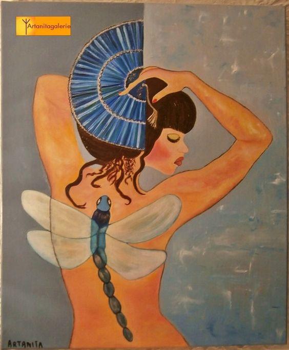L'envol - Painting,  50x70 cm ©2014 by Artanita -  Painting