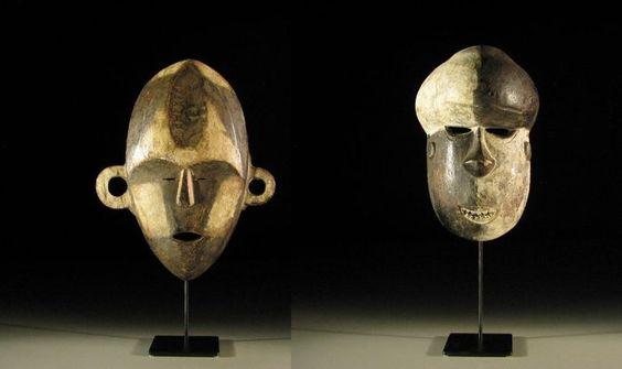 Maison de ventes aux enchères en ligne Catawiki: Lot de 2 masques africains - BOA & SALAMPASU - RD Congo, Afrique