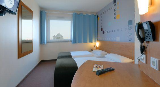 Zweibettzimmer im B&B #Hotel #Mainz-Hechtsheim
