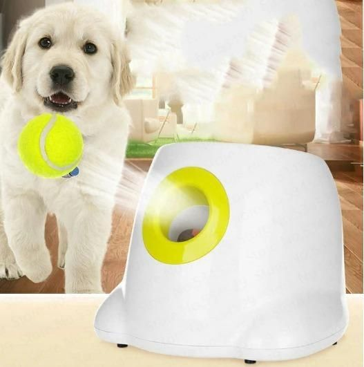 50 Off Today Automatic Tennis Ball Launcher For Dog Pomelo Tea In 2020 Ball Launcher Pet Ball Dog Ball