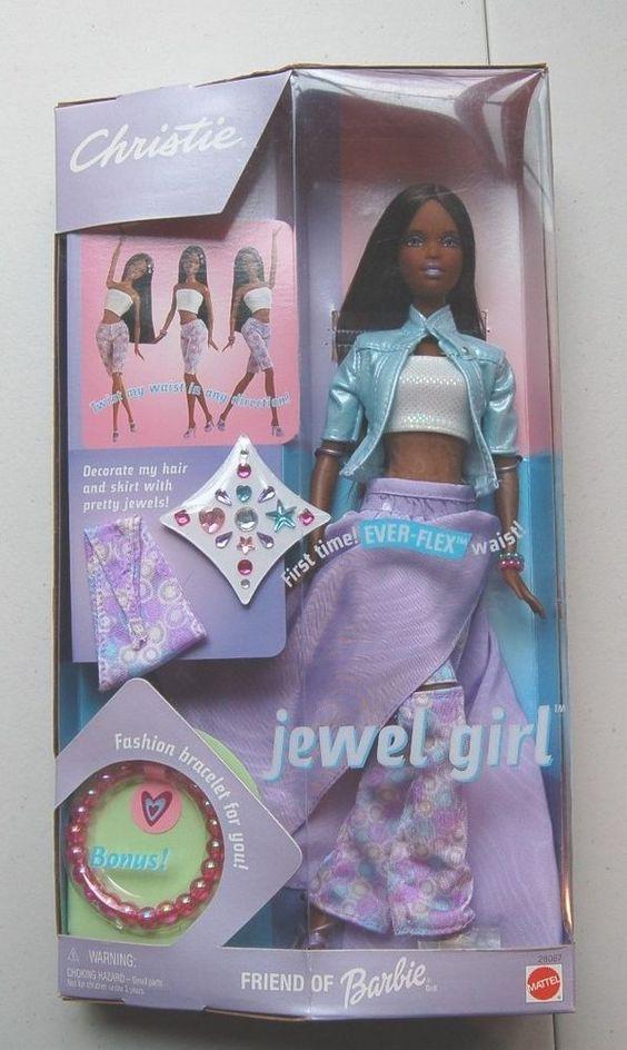 2000 Mattel Barbie Aa Jewel Girl Christie W Ever Flex