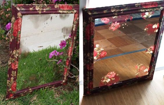 Make a custom frame using choice of fabric and modpodge.