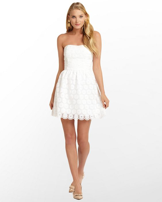 Need a white dress to wear under your graduation gown? This Lilly ...