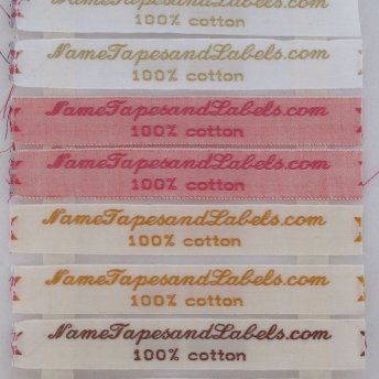 "2/5"" / 10mm Woven Clothing Labels Bright Colors"