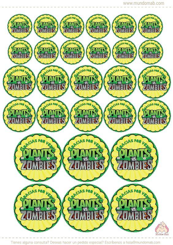 Plantas Vs Zombies Mini Kit Imprimible Gratis Mundo Mab Kits