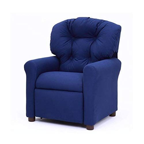 Kids Reclining Chair Blue Upholstered Children Furniture Soft Relaxing Pushback Recliner Small Sofa Chair E Book By Jnw Small Sofa Chair Small Sofa Furniture