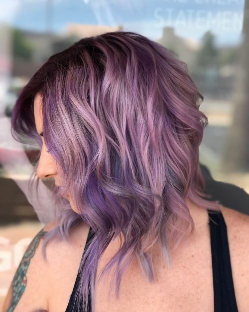 17 Hottest Silver Purple Hair Colors Of 2020 Silver Purple Hair Purple Hair Hair Color Light Brown