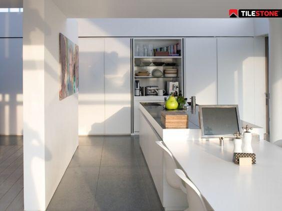 Impermo, goedkope keramische rechthoekige grijze XL vloertegel ...