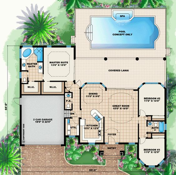 Dream house planpool included from coolhouseplanscom Home