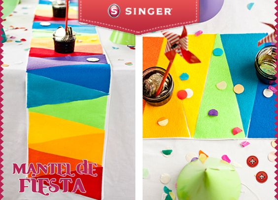 mantel de colores para fiestas infantiles yolohice u singer mxico