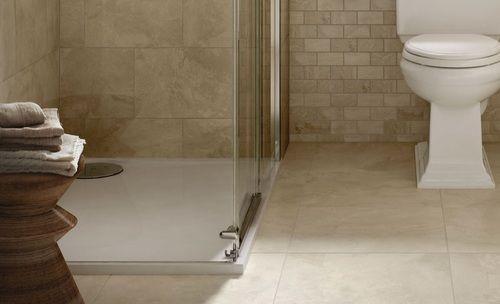 Marble Falls Highland Beige Ceramic 18x18 Beige Ceramic Glazed Ceramic Tile Marble Look Tile