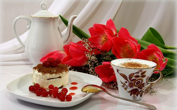 Descargar gratis pastel, baya, capuchino, caf Fondos de escritorio en la resolucin 2560x1600 — imagen №374652