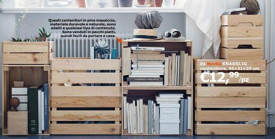 Libreria fatta con cassette Knagglig di Ikea  Vorrei farlo anchio ...