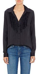 Plisse Satin Blouse-Black. This is a fantastic look.