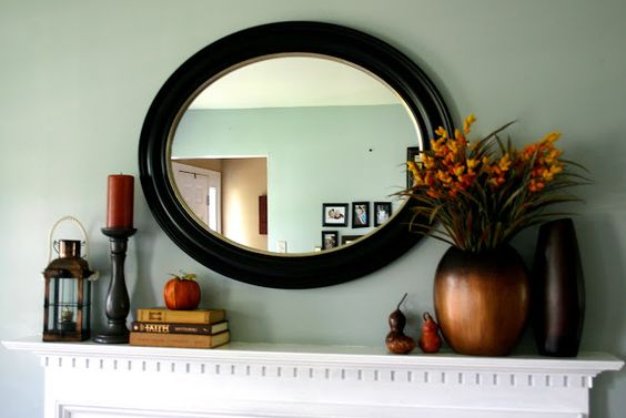Fall Mantle Idea. Simple and Classic idea! Check out the post for other ideas!