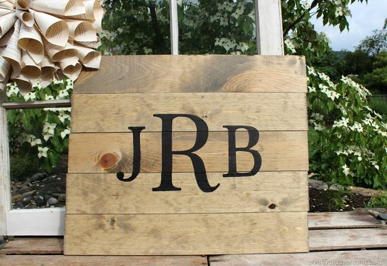 DIY rustic wooden monogram - perfect for wedding or home decor