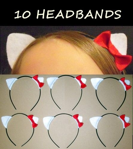 how to make hello kitty ears