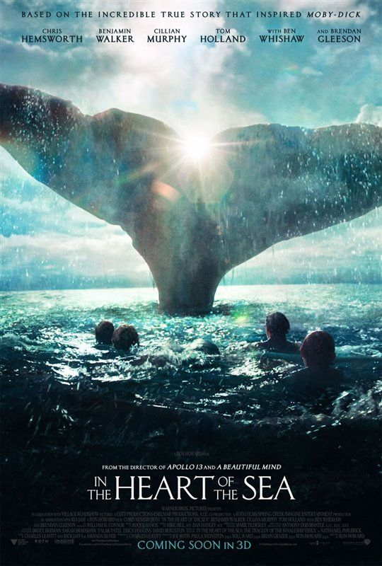 In The Heart Of The Sea Poster Nombres De Peliculas Carteles De Cine Películas Completas