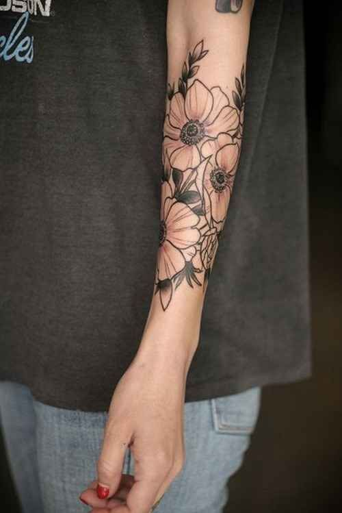 These lovely quarter-sleeve blooms: with roses instead