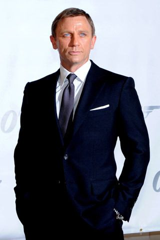 Daniel Craig in a midnight blue suit. What more needs to be said