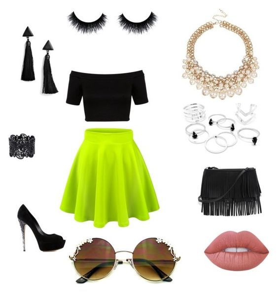 """"" by miriam-strini ❤ liked on Polyvore featuring Miss Selfridge, Casadei, White House Black Market, Boohoo and Lime Crime"