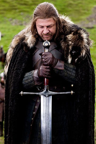 Day 1: Favorite male character, the principled patriarch from the north, Lord Eddard Stark (Sean Bean)