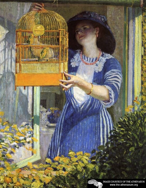 The Open Window(also known as The Bird Cage)  Frederick C. Frieseke