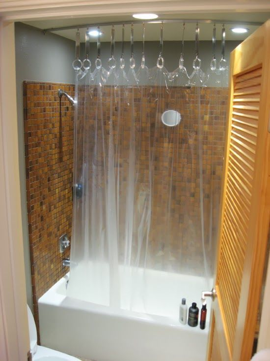 Hack A Ceiling Track For Shower Curtain Plastic Curtains Shower