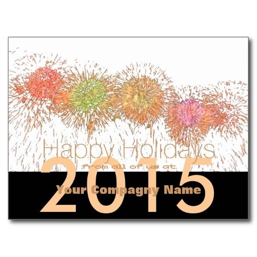 2015 happy Holidays Customizable Corporate Cards Post Cards