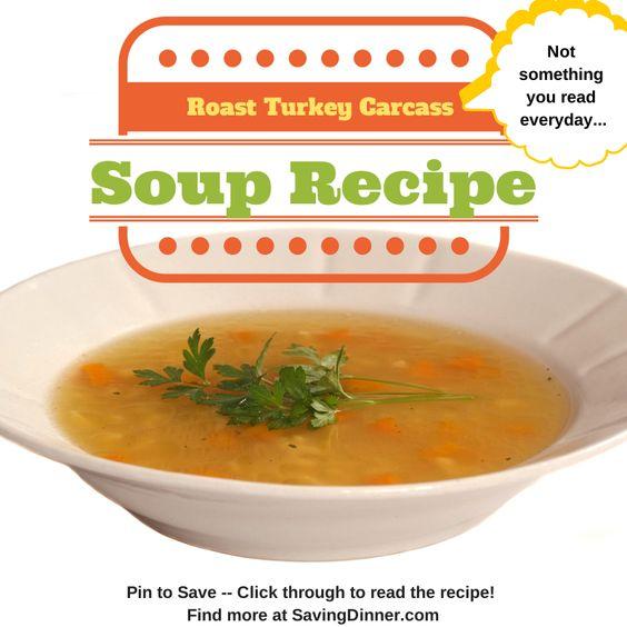 Turkey carcass soup, Turkey and Soups on Pinterest