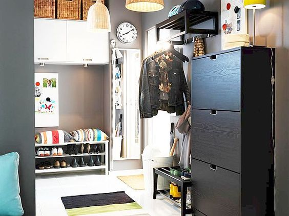 Shoe Storage Cabinets Ideas For Small Space: Black Ikea Shoe Cabinet Designs