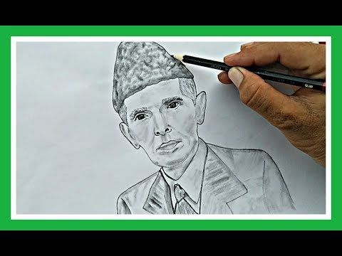 Pin On How To Draw Quaid E Azam Muhammad Ali Jinnah Step By Step By Drawing Ex