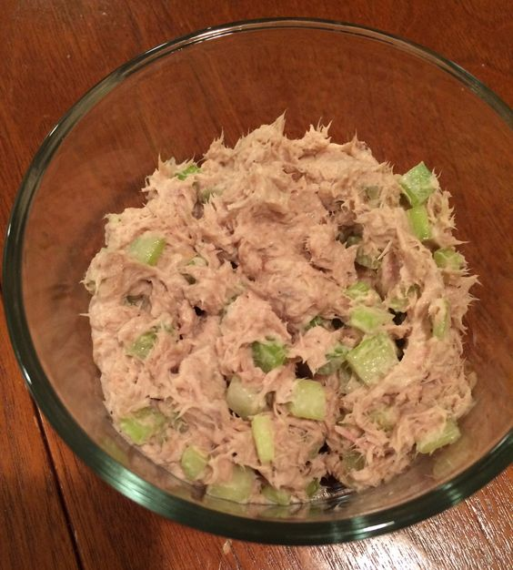 Tuna salad tuna and 3 ingredients on pinterest for Tuna fish salad calories