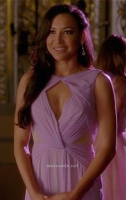 My design: Santana's purple cutout gown on Glee.  Outfit details: http://wornontv.net/15104/