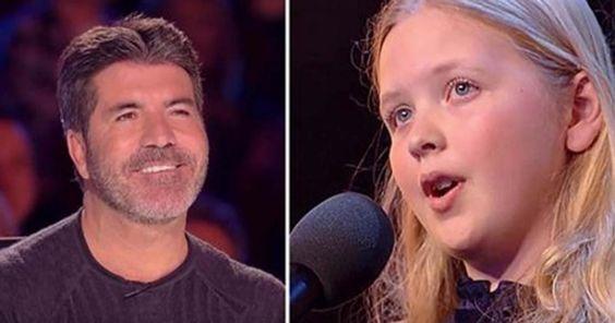 Ella dice lo que va cantar y el jurado no le cree. ¿Cuando abre la boca? ¡Miren a Simon!
