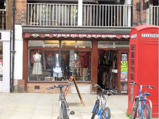 Lily Vintage      Tel:  01244 318333  45 Bridge St, Chester, Cheshire, CH1 1NG