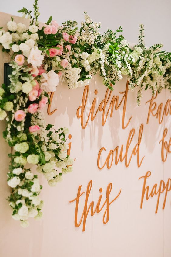 """""""I didn't know I could be this happy"""" custom wedding sign from Lavender and Pine 