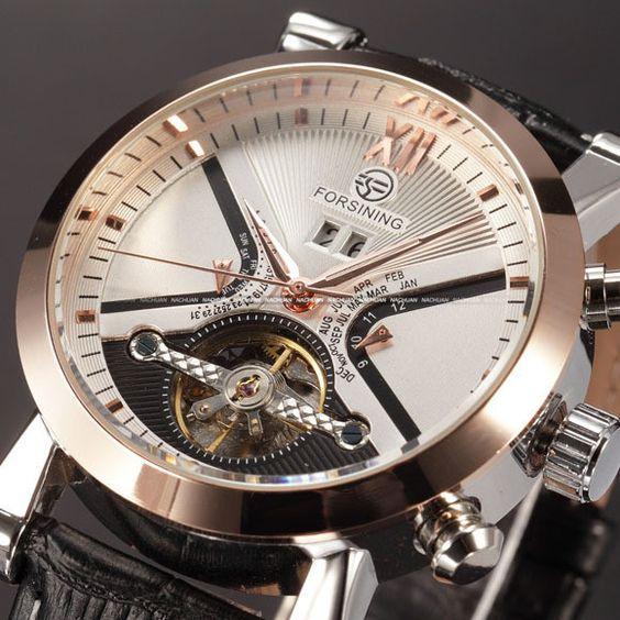 Classic Men's Mechanical Tourbillon Watch