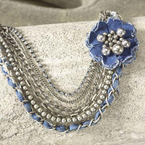 Denim Necklace from Midnight Velvet®.: