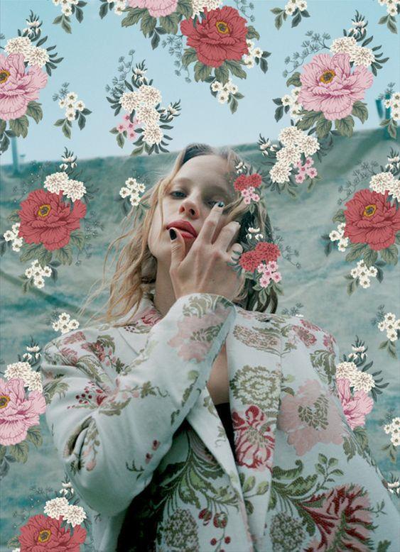 Wonderland Magazine l November 2016 Karolina York print detail l 38304 FLO-O 14KW