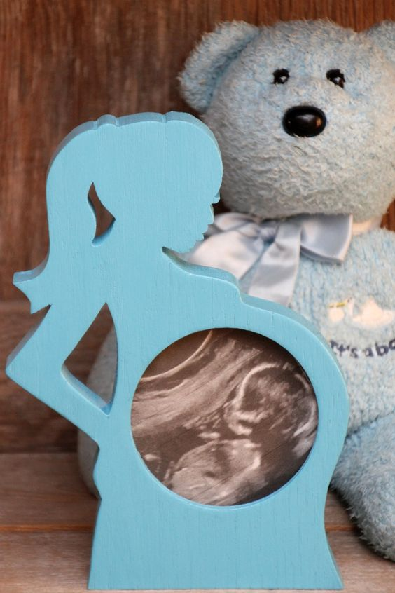 First Photo Ultrasound Sonogram Wood Picture Frame